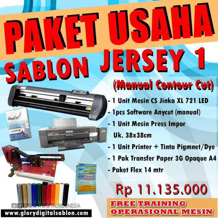PAKET SABLON JERSEY 1 (Manual Contour Cut)