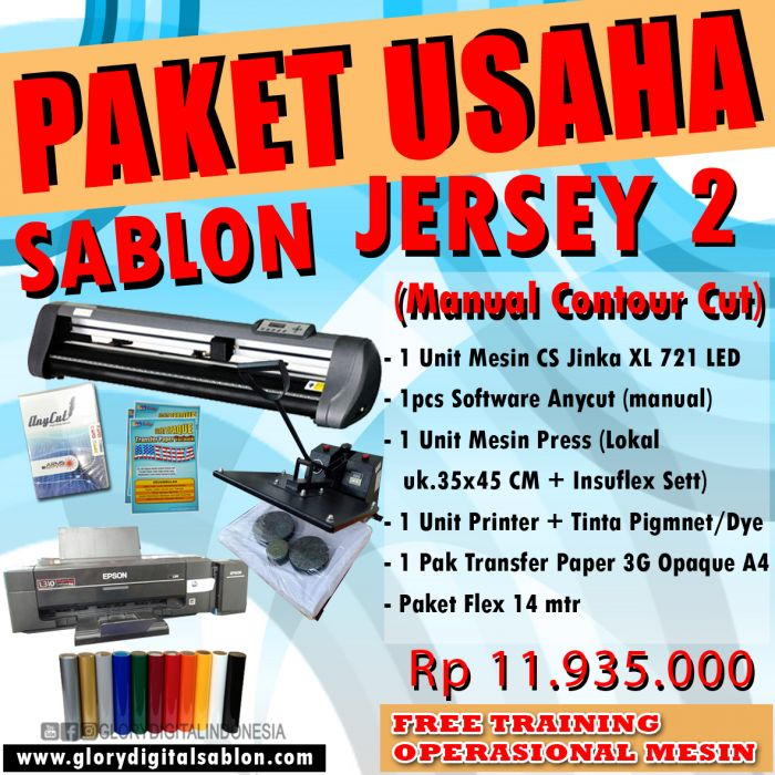 PAKET SABLON JERSEY 2 (Manual Contour Cut)
